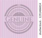 genuine badge with pink... | Shutterstock .eps vector #1251486814
