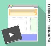 web page building concept. flat ...