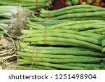 long bean at street food | Shutterstock . vector #1251498904