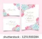 floral wedding invitation with... | Shutterstock .eps vector #1251500284