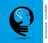 human head thinking a new idea | Shutterstock .eps vector #125150084