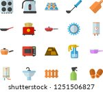 color flat icon set sink flat... | Shutterstock .eps vector #1251506827