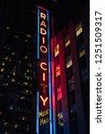 radio city music hall at night  ...   Shutterstock . vector #1251509317