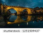ponte sisto at night  in rome ... | Shutterstock . vector #1251509437