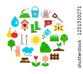 concept with garden icons in...   Shutterstock .eps vector #1251510271