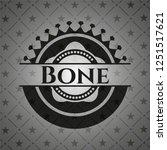 bone black emblem. vintage.   Shutterstock .eps vector #1251517621