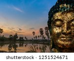 the old golden budha mysterious ...   Shutterstock . vector #1251524671