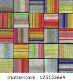 3d abstract striped tile... | Shutterstock . vector #125153669