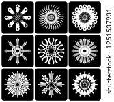 design elements set. contrast... | Shutterstock .eps vector #1251537931