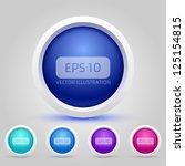 vector web buttons pack | Shutterstock .eps vector #125154815