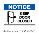 notice keep door closed symbol... | Shutterstock .eps vector #1251548551