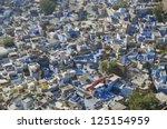 beautiful blue city jodhpur in... | Shutterstock . vector #125154959