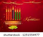 illustration of happy kwanzaa... | Shutterstock .eps vector #1251554977