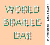 world braille day. social event ... | Shutterstock .eps vector #1251556054