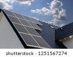 roof with solar panels | Shutterstock . vector #1251567274