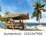 beautiful view at black island  ... | Shutterstock . vector #1251567904