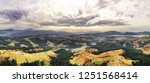 carpathian mountain sunny... | Shutterstock . vector #1251568414
