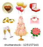 collection of wedding  and... | Shutterstock . vector #125157161