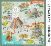 fantasy land adventure map for... | Shutterstock .eps vector #1251596197