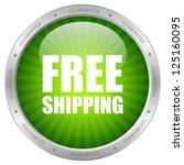vector green free shipping icon | Shutterstock .eps vector #125160095