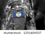 flag of belize on soldiers arm. ... | Shutterstock . vector #1251604537