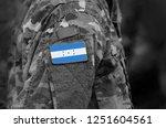 flag of honduras on soldier arm.... | Shutterstock . vector #1251604561