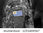 flag of uruguay on soldiers arm.... | Shutterstock . vector #1251604567