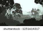2d illustration. trees in the... | Shutterstock . vector #1251614317