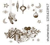 set of christmas toys for...   Shutterstock .eps vector #1251623917