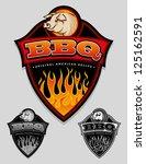 bbq   original american recipe...   Shutterstock .eps vector #125162591
