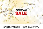 sale realistic gold tinsel... | Shutterstock .eps vector #1251636997