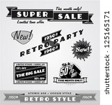 vintage and retro labels  logo