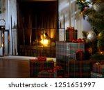 view of wrapped gifts and... | Shutterstock . vector #1251651997