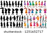 silhouette of a child  set ... | Shutterstock .eps vector #1251652717