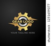 gear logo template vector. ... | Shutterstock .eps vector #1251659377