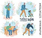 vector cartoon illustration of... | Shutterstock .eps vector #1251670264