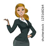 business woman. vector... | Shutterstock .eps vector #125168264