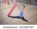 adult woman practices aero anti ... | Shutterstock . vector #1251687667