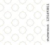 seamless geometric ornamental... | Shutterstock .eps vector #1251693811