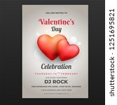 valentines day party flyer... | Shutterstock .eps vector #1251695821