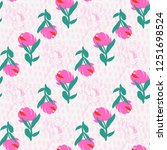 seamless flowers pattern with... | Shutterstock .eps vector #1251698524