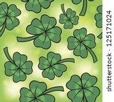 seamless texture clover day... | Shutterstock .eps vector #125171024