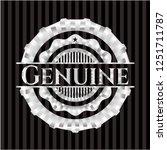 genuine silvery shiny badge | Shutterstock .eps vector #1251711787