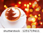 cappuccino coffee with cinnamon ... | Shutterstock . vector #1251719611