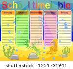school timetable with marine... | Shutterstock .eps vector #1251731941