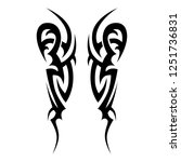 tattoo tribal  pattern elements ... | Shutterstock .eps vector #1251736831