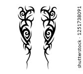 tribal symmetric pattern...   Shutterstock .eps vector #1251738091