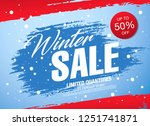 winter sale banner template... | Shutterstock .eps vector #1251741871