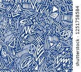 geometric doodle hand drawn... | Shutterstock . vector #1251758584
