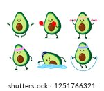cute smiling happy strong... | Shutterstock .eps vector #1251766321